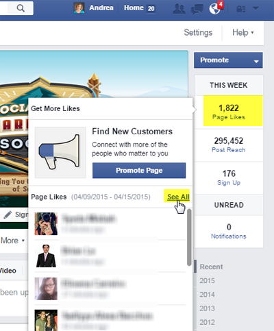 see all facebook page likes feature