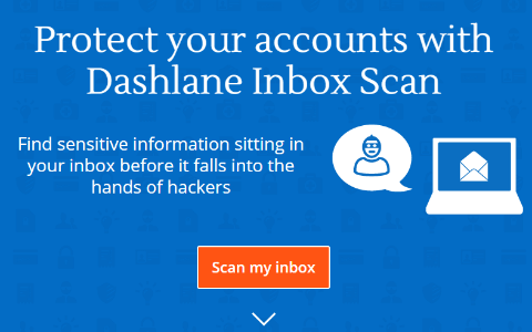 Dashlane Inbox Scan