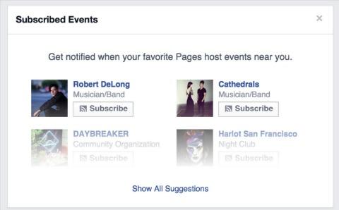 facebook event subscribe button