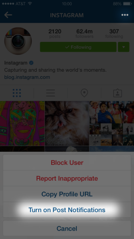 Instagram Adds Post Notifications