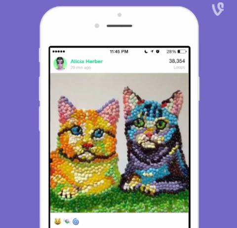 Vine Improves Sharing