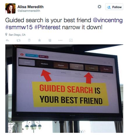 tweet from vincent ng smmw15 presentation