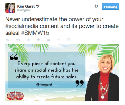 kimgarst content tweet from smmw15