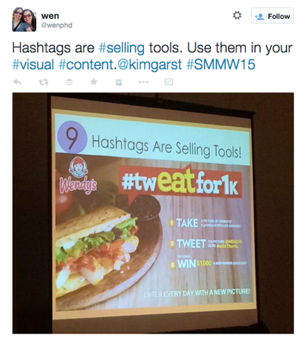 wenphd tweet from kim garst session at smmw15