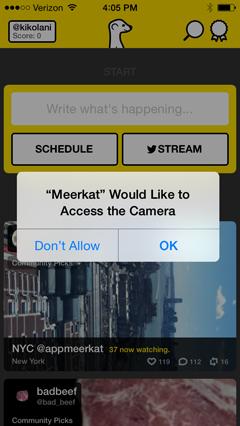 meerkat app persmissions