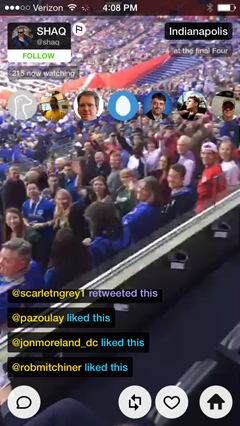 livestream view on meerkat