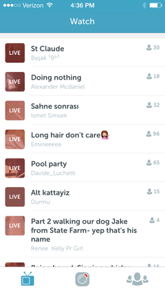 live broadcasts on periscope