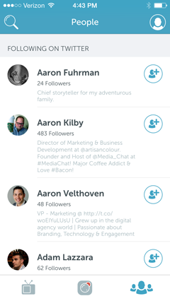 people you follow on twitter on periscope