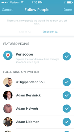 periscope people to follow
