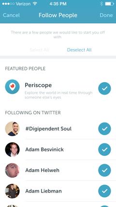 periscope people to follow