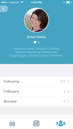 profile in periscope