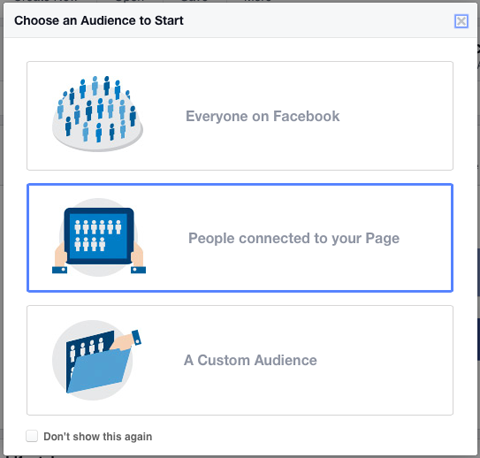 choosing people connected to your page
