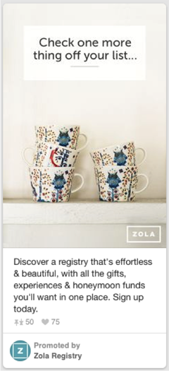 zola registry promoted pin