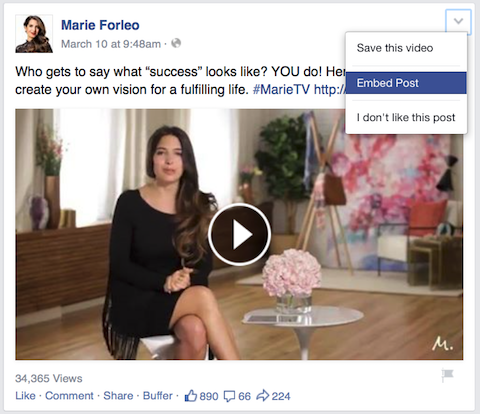 marie forleo video facebook post