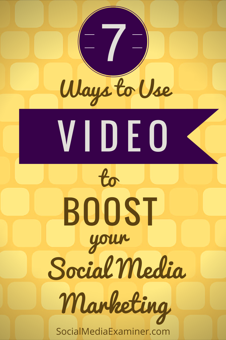 seven ways to use video to boost your social media efforts