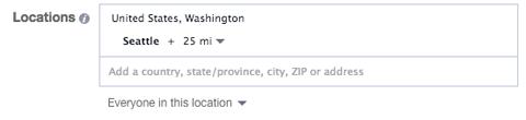 location targeting in facebook