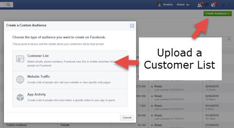 upload a customer list