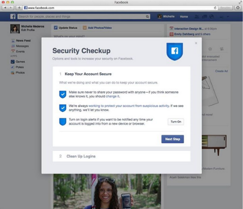 Facebook Tests a New Security Checkup Feature
