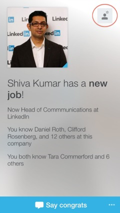 LinkedIn Connected allows you to easily keep in contact with those that you already know.