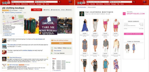 Yelp and Shoptiques.com Partner to Bring Boutique Shoping to the Yelp Platform