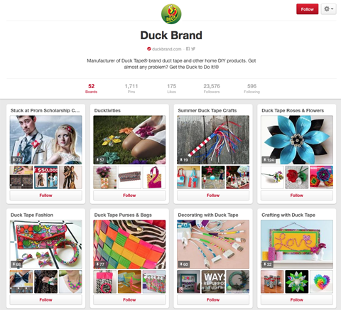 duck brand pinterest board