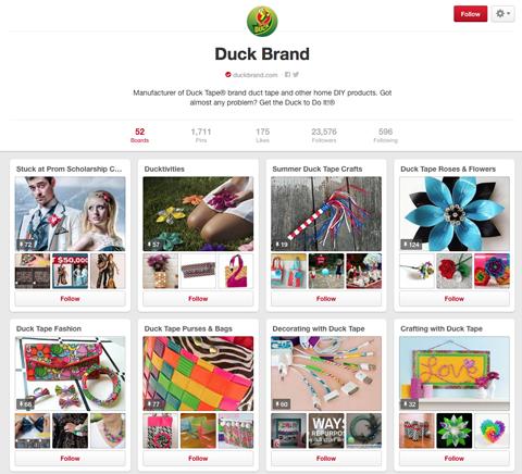 duck brand pinterest board