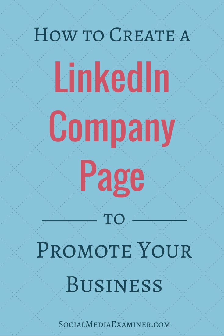 how to create business page on linkedin