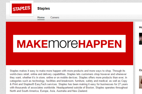 staples company page banner