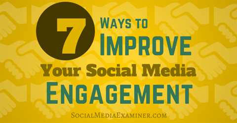 improve social media engagement