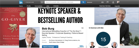 bob burg linkedin background