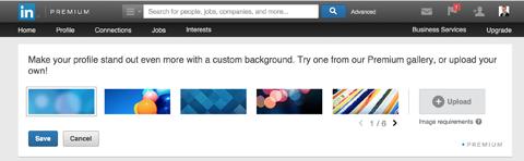 linkedin background options