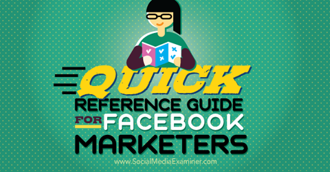 reference guide for facebook marketers