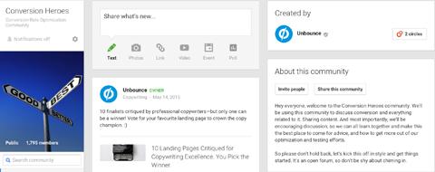 features google+ community creator