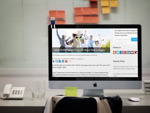 hootsuite two column blog design