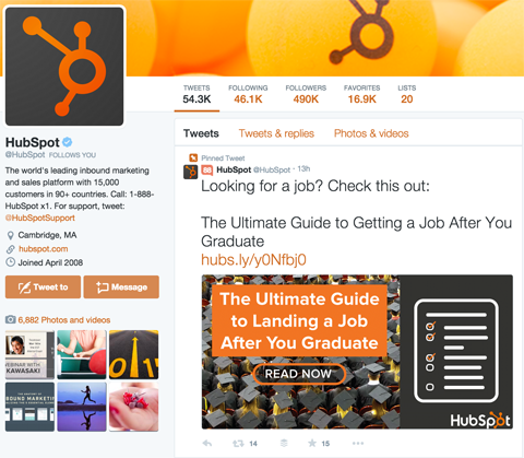 hubspot pinned post