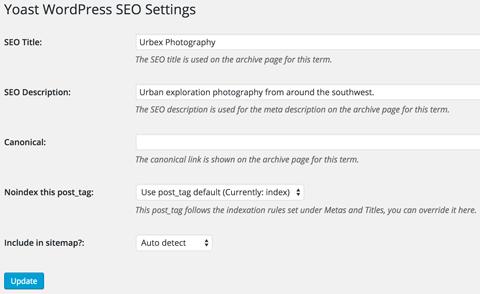 yoast wordpress seo settings