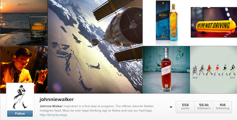 johnniewalker instagram profile