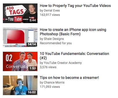 youtube video thumbnails
