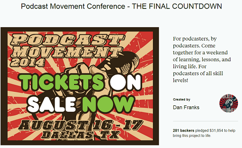 podcast movement kickstarter