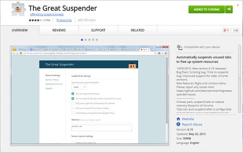 the great suspender app