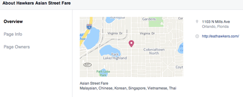facebook page map