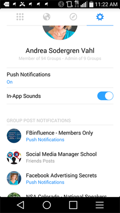 manage group notifications