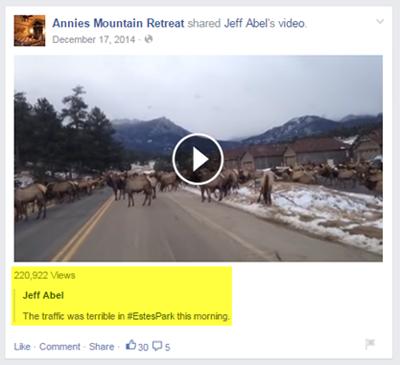 local video facebook post