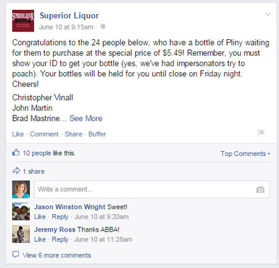 facebook page fan reward post