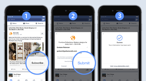 Facebook Tests Lead Ads in Mobile