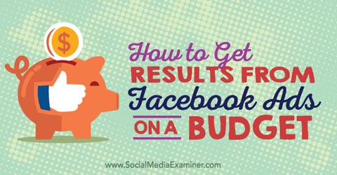 get results from facebook ads on a budget