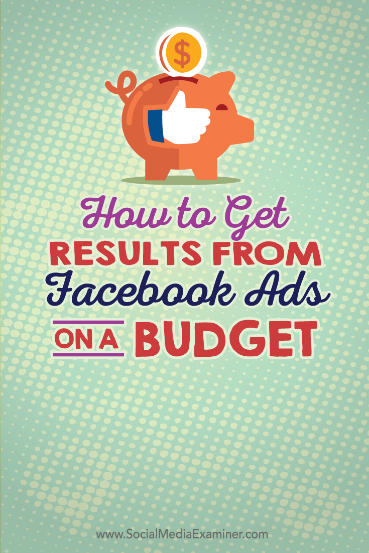 how to get results from facebook ads on a budget