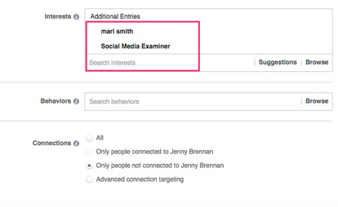 Interest Targeting Facebook ad Interest Targeting