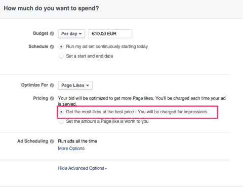 facebook ad optimizing