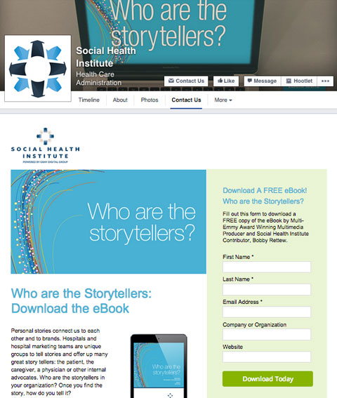 social health institute custom tab app
